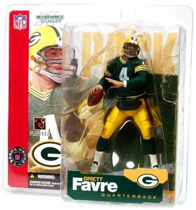 McFarlane Toys NFL Sports Picks Series 4 Action Figure Brett Favre (Green Bay Packers) Green Jersey
