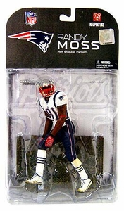 McFarlane Toys NFL Sports Picks Series 17 [2008 Wave 1] Action Figure Randy Moss (New England Patriots) Red Armband Variant