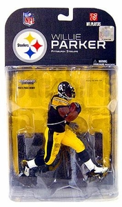 McFarlane Toys NFL Sports Picks Series 17 [2008 Wave 1] Action Figure Willie Parker (Pittsburgh Steelers) Black Wrist Tape Variant