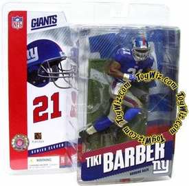 McFarlane Toys NFL Sports Picks Series 11 Action Figure Tiki Barber (New York Giants) Blue Jersey