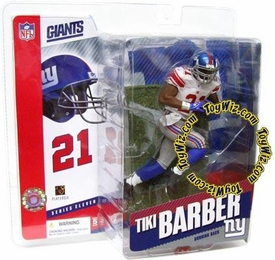 McFarlane Toys NFL Sports Picks Series 11 Action Figure Tiki Barber (New York Giants) White Jersey Variant