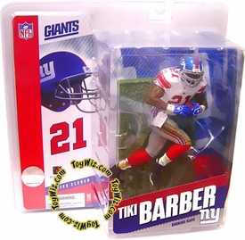 McFarlane Toys NFL Sports Picks Series 11 Action Figure Tiki Barber (New York Giants) White Jersey with Red Socks Variant Very Rare!