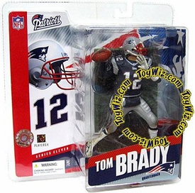 McFarlane Toys NFL Sports Picks Series 11 Action Figure Tom Brady (New England Patriots) Blue Jersey