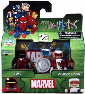 Marvel Minimates Exclusive Mini Figure 2-Pack Box & Vindicator