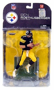 McFarlane Toys NFL Sports Picks Series 18 [2008 Wave 2] Action Figure Ben Roethlisberger (Pittsburgh Steelers) Clean Uniform Variant