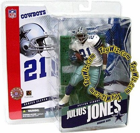 McFarlane Toys NFL Sports Picks Series 11 Action Figure Julius Jones (Dallas Cowboys) White Jersey