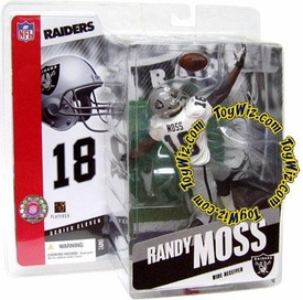 McFarlane Toys NFL Sports Picks Series 11 Action Figure Randy Moss (Oakland Raiders) White Jersey