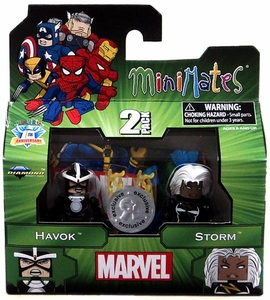 Marvel Minimates Exclusive 2-Pack Havok & Storm