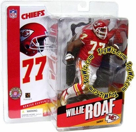 McFarlane Toys NFL Sports Picks Series 11 Action Figure Willie Roaf (Kansas City Chiefs) Red Jersey