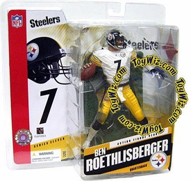 McFarlane Toys NFL Sports Picks Series 11 Action Figure Ben Roethlisberger (Pittsburgh Steelers) White Jersey Variant