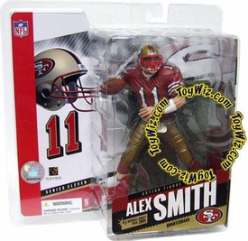 McFarlane Toys NFL Sports Picks Series 11 Action Figure Alex Smith (San Francisco 49ers) Red Jersey