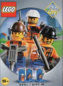 LEGO City Mini Figure 3-Pack Set #3351 Mini Heroes #2