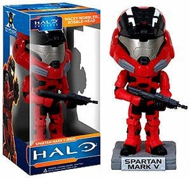 Funko Halo Wacky Wobbler Bobble Head Red Spartan Mark V