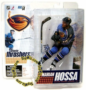 McFarlane Toys NHL Sports Picks Series 14 Action Figure Marian Hossa (Atlanta Thrashers) Blue Jersey