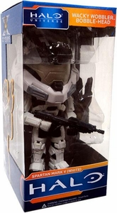 Funko Halo Universe SDCC 2011 San Diego Comic-Con Exclusive Wacky Wobbler Bobble Head Spartan Mark V [White]