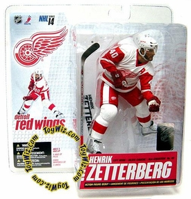McFarlane Toys NHL Sports Picks Series 14 Action Figure Henrik Zetterberg (Detroit Red Wings) White Jersey