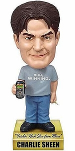 Funko Wacky Wobbler Bobble Head Talking Charlie Sheen
