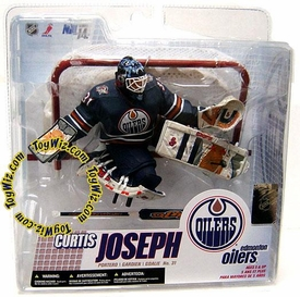 McFarlane Toys NHL Sports Picks Series 14 Action Figure Curtis Joseph (Edmonton Oilers) Retro Blue Jersey