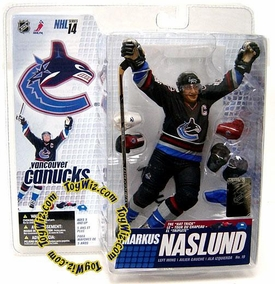 McFarlane Toys NHL Sports Picks Series 14 Action Figure Markus Naslund (Vancouver Canucks) Blue Jersey