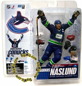 McFarlane Toys NHL Sports Picks Series 14 Action Figure Markus Naslund 2 (Vancouver Canucks) Retro Blue & Green Jersey Variant