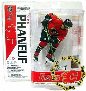 McFarlane Toys NHL Sports Picks Series 15 Action Figure Dion Phaneuf (Calgary Flames) Red Jersey