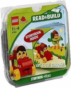 LEGO DUPLO Read & Build Set #6760 Let's Go! Vroom!