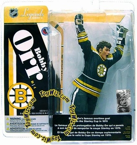 McFarlane Toys NHL Sports Picks Legends Series 4 Action Figure Bobby Orr (Boston Bruins) Black Jersey