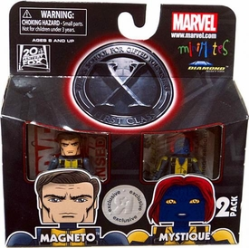 Marvel Minimates X-Men First Class Exclusive Mini Figure 2-Pack Magneto & Mystique
