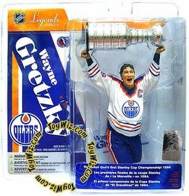 McFarlane Toys NHL Sports Picks Legends Series 4 Action Figure Wayne Gretzky (Edmonton Oilers) White Jersey
