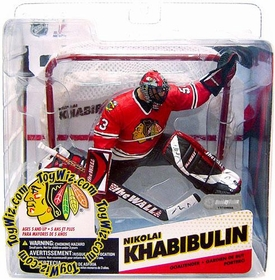 McFarlane Toys NHL Sports Picks Series 12 Action Figure Nikolai Khabibulin (Chicago Blackhawks) Red Jersey