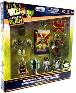 Ben 10 Exclusive Ultimate Alien Creation Chamber Figure Set 6-Pack [Terraspin, Ultimate Big Chill, Eye Guy, Diamondhead, Grey Matter & Cannonbolt]
