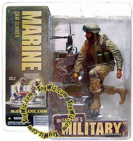 McFarlane Toys Military Soldiers REDEPLOYED Series 2 Action Figure Marine Saw Gunner (*Random Ethnicity)