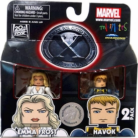 Marvel Minimates X-Men First Class Exclusive Mini Figure 2-Pack Emma Frost & Havok BLOWOUT SALE!