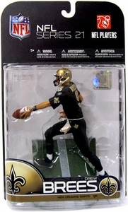 McFarlane Toys NFL Sports Picks Series 21 [2009 Wave 2] Action Figure Drew Brees(New Orleans Saints) All Black Uniform