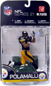 McFarlane Toys NFL Sports Picks Series 21 [2009 Wave 2] Action Figure Troy Polamalu (Pittsburgh Steelers)