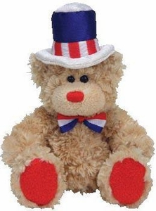 Ty Beanie Baby Independence The Bear (White Rim Hat)