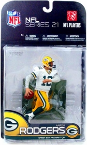 McFarlane Toys NFL Sports Picks Series 21 [2009 Wave 2] Action Figure Aaron Rodgers (Green Bay Packers) White Jersey Variant