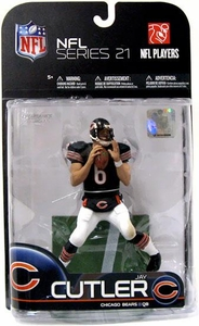 McFarlane Toys NFL Sports Picks Series 21 [2009 Wave 2] Action Figure Jay Cutler (Chicago Bears)Dark Blue Jersey & White Pants
