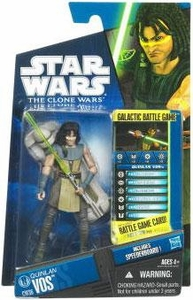 Star Wars 2010 Clone Wars Animated Action Figure CW No. 36 Quinlan Vos