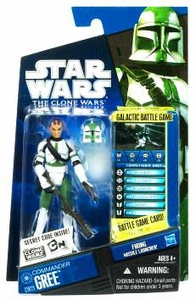 Star Wars 2010 Clone Wars Animated Action Figure CW No. 21 Commander Gree