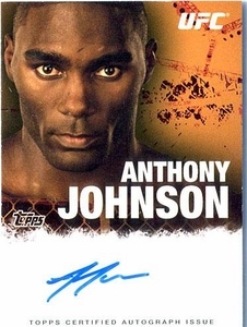 UFC Topps Ultimate Fighting Championship 2010 Championship Single Card Autograph Fighters & Personalities FA-AJ Anthony Johnson BLOWOUT SALE!