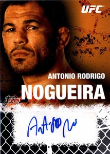 UFC Topps Ultimate Fighting Championship 2010 Championship Single Card Onyx Autograph Fighters & Personalities FA-ARN Antonio Rodrigo Nogueira 6/88