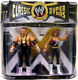 WWE Wrestling Classic Superstars Limited Edition Action Figure 2-Pack Jim The Anvil Neidhart & Natalya