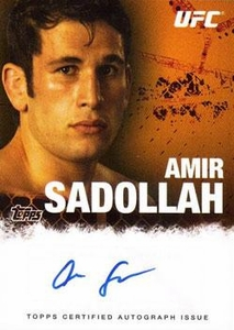 UFC Topps Ultimate Fighting Championship 2010 Championship Single Card Autograph Fighters & Personalities FA-ASA Amir Sadollah