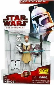 Star Wars 2009 Clone Wars Animated Action Figure CW No. 19 Obi-Wan Kenobi [Firing Backpack]
