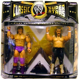WWE Wrestling Classic Superstars Action Figure 2-Pack Rick The Model Martel Vs. Jake The Snake Roberts