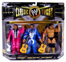 WWE Wrestling Classic Superstars Limited Edition Champion Series 3-Pack Rythm & Blues [Jimmy Hart, Honky Tonk Man & Greg Valentine]