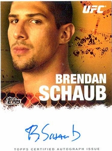 UFC Topps Ultimate Fighting Championship 2010 Championship Single Card Autograph Fighters & Personalities FA-BSC Brendan Schaub