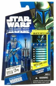 Star Wars 2010 Clone Wars Animated Action Figure CW No. 29 Mandalorian Warrior