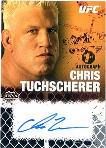UFC Topps Ultimate Fighting Championship 2010 Championship Single Card Onyx Autograph Fighters & Personalities FA-CT Chris Tuchscherer 59/88 1st Autograph!